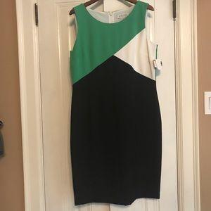 KASPER color block dress NWT